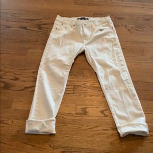 Washed but never worn Ralph Lauren white jeans.
